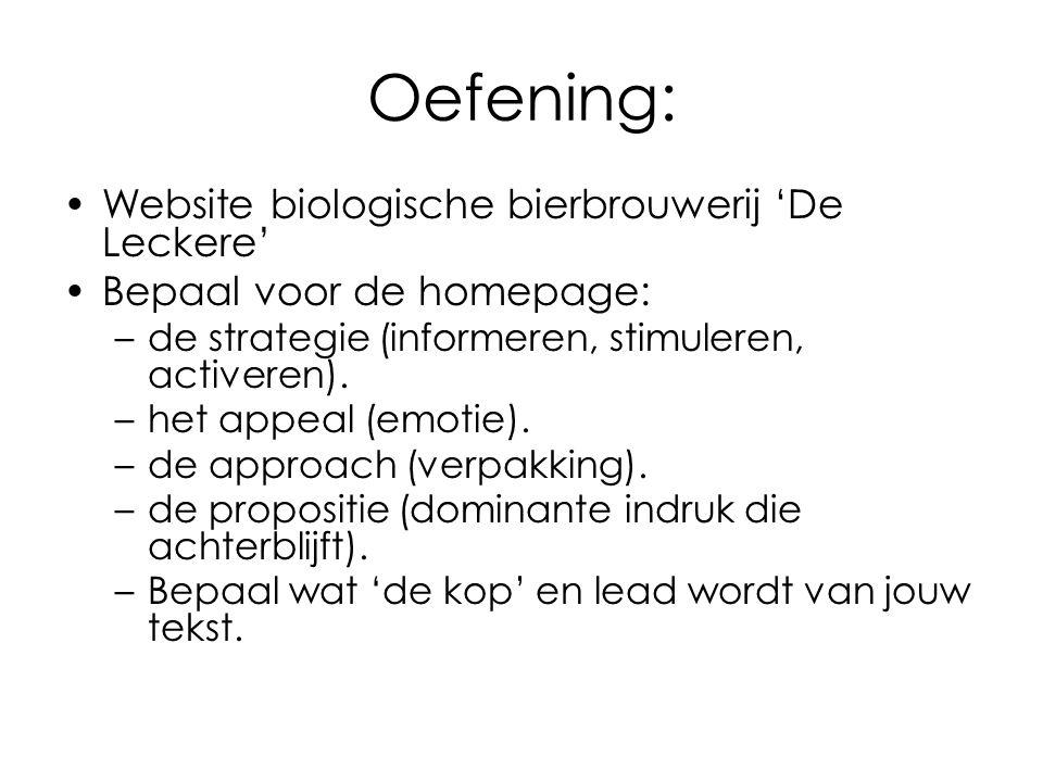 Oefening: Website biologische bierbrouwerij 'De Leckere'