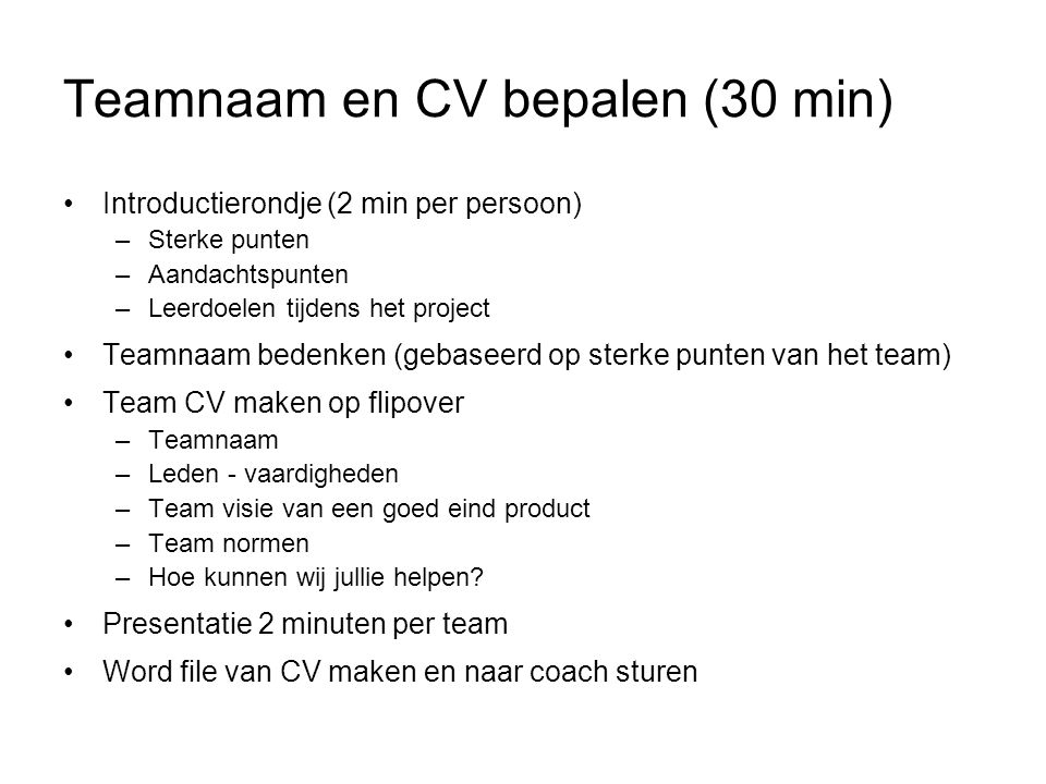 Project workshop: Werken in teams   ppt video online download