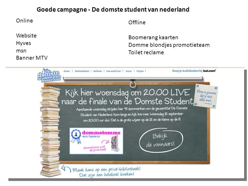 Goede campagne - De domste student van nederland