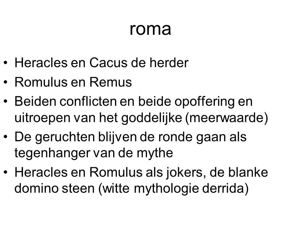 roma Heracles en Cacus de herder Romulus en Remus