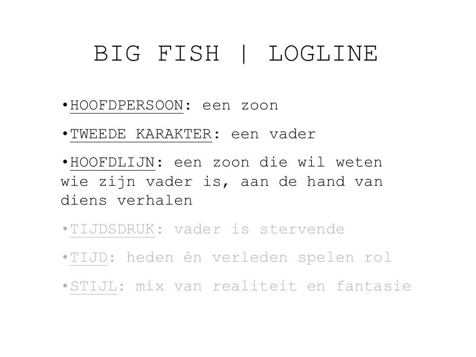 BIG FISH | LOGLINE HOOFDPERSOON: een zoon TWEEDE KARAKTER: een vader