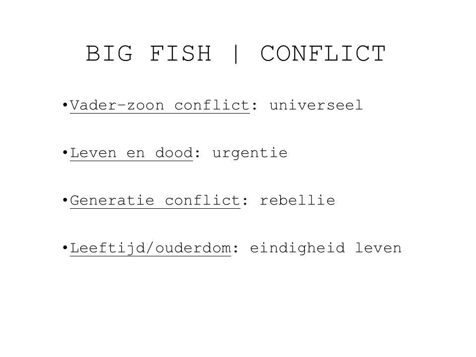 BIG FISH | CONFLICT Vader–zoon conflict: universeel