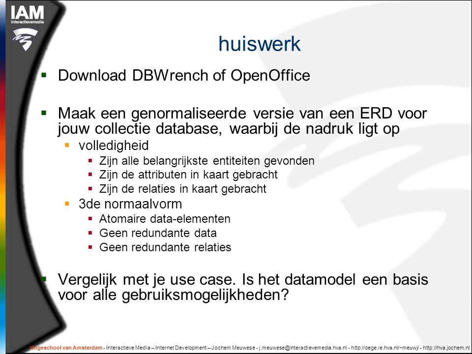 huiswerk Download DBWrench of OpenOffice