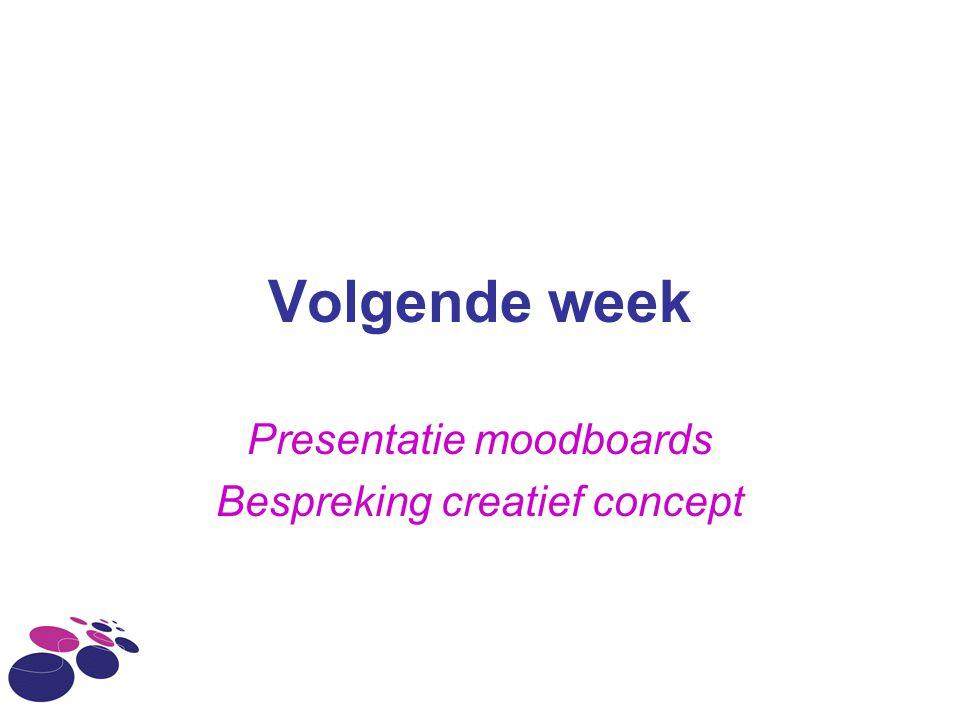Presentatie moodboards Bespreking creatief concept