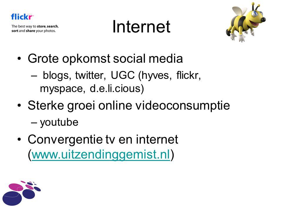 Internet Grote opkomst social media