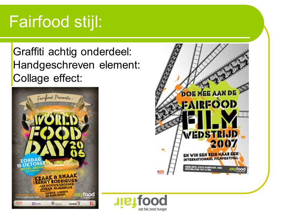 Fairfood stijl: Graffiti achtig onderdeel: Handgeschreven element:
