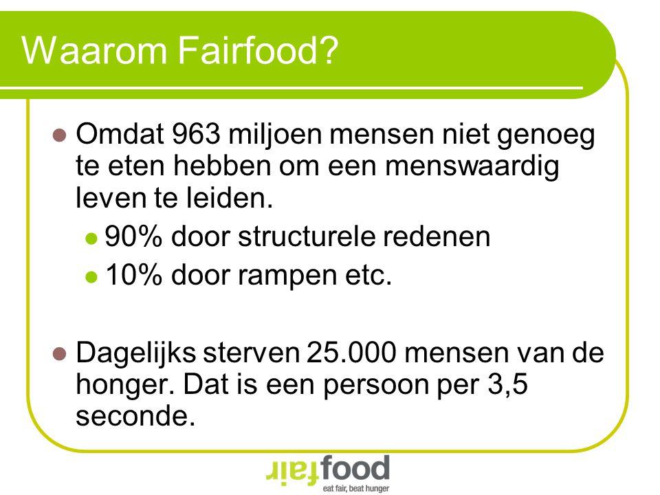 Waarom Fairfood Omdat 963 miljoen mensen niet genoeg te eten hebben om een menswaardig leven te leiden.