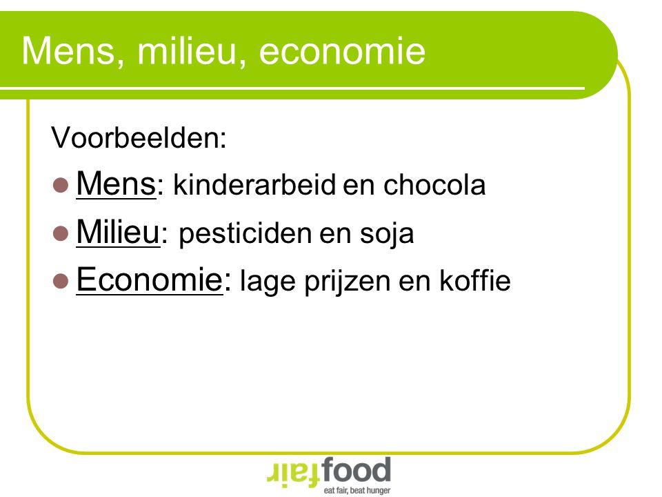 Mens, milieu, economie Mens: kinderarbeid en chocola