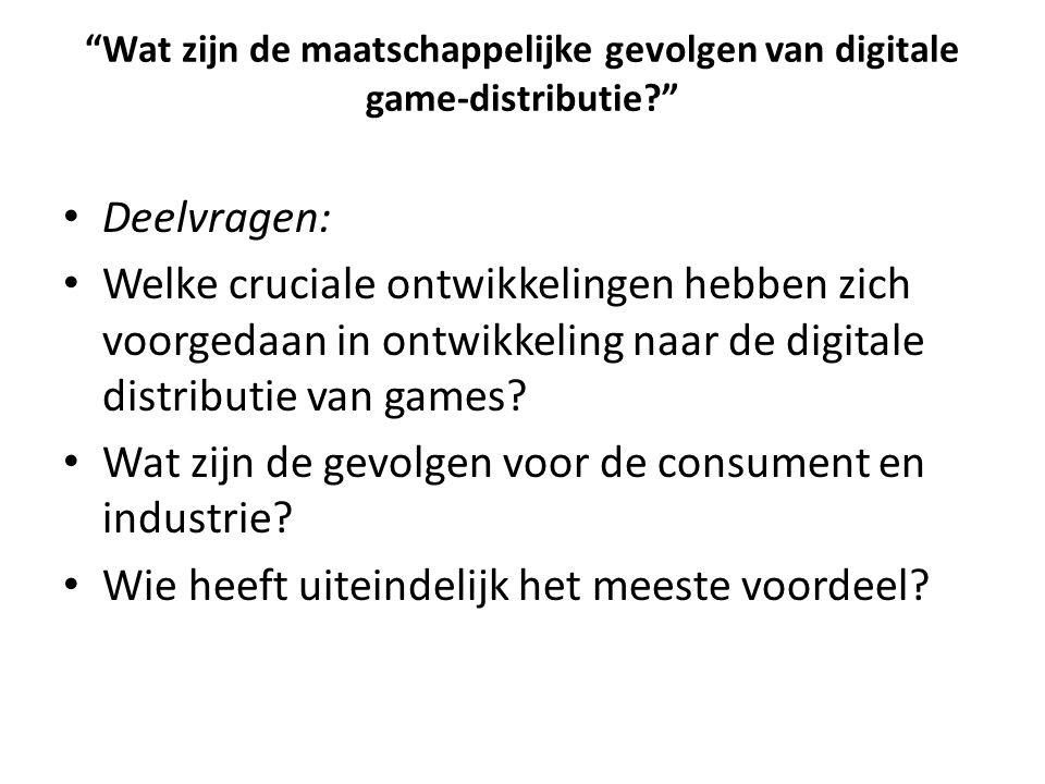 Wat zijn de maatschappelijke gevolgen van digitale game-distributie