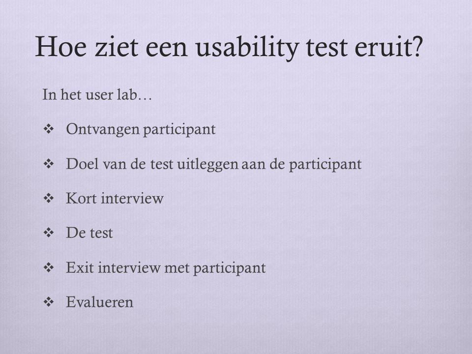 Hoe ziet een usability test eruit