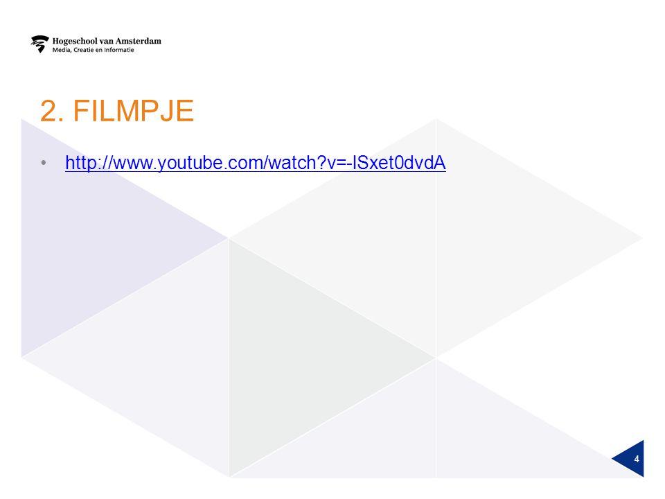2. filmpje http://www.youtube.com/watch v=-lSxet0dvdA