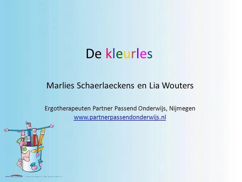 De kleurles Marlies Schaerlaeckens en Lia Wouters