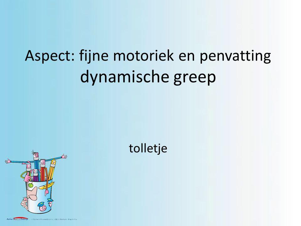 Aspect: fijne motoriek en penvatting dynamische greep