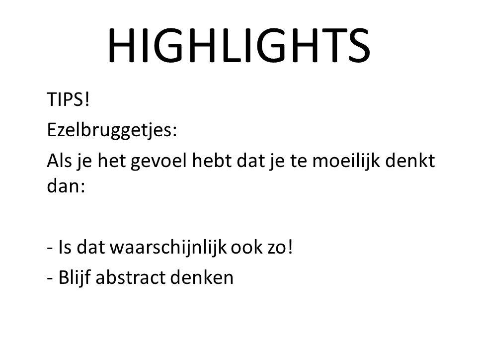 HIGHLIGHTS TIPS.