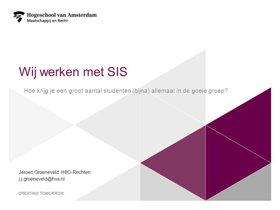 Jeroen Groeneveld HBO-Rechten j.j.groeneveld@hva.nl