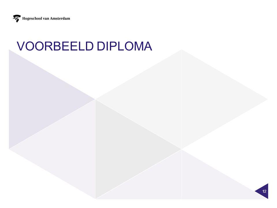 Voorbeeld diploma