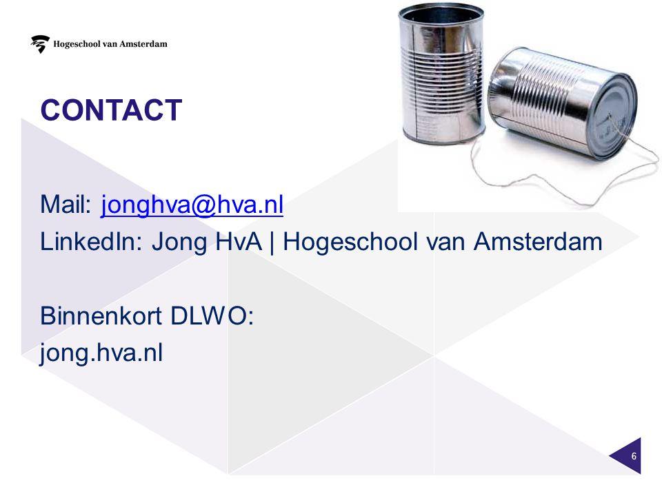 contact Mail: jonghva@hva.nl