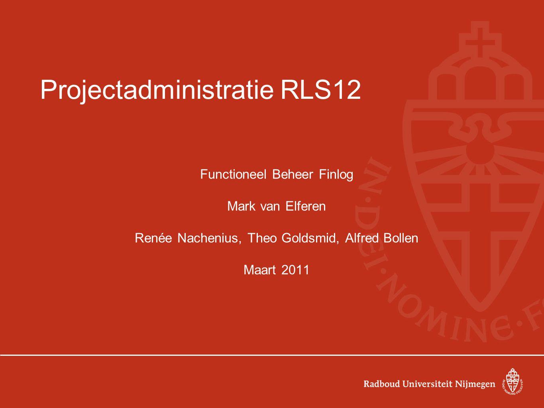 Projectadministratie RLS12