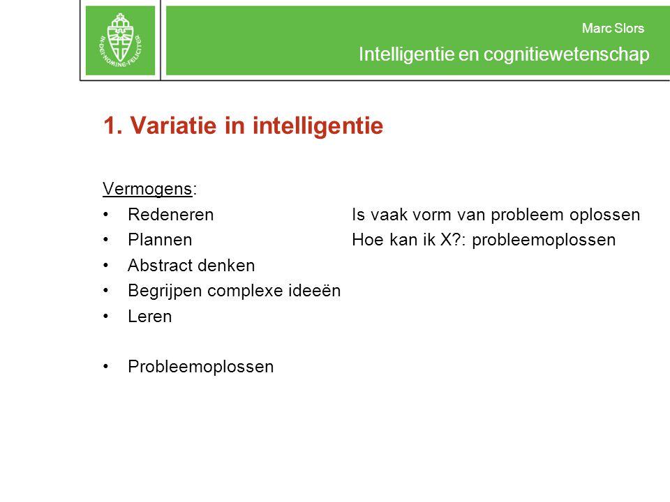 1. Variatie in intelligentie