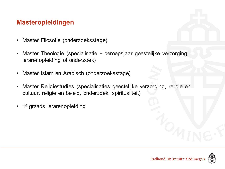 Masteropleidingen Master Filosofie (onderzoeksstage)