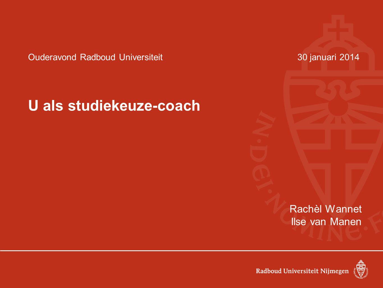 Ouderavond Radboud Universiteit 30 januari 2014