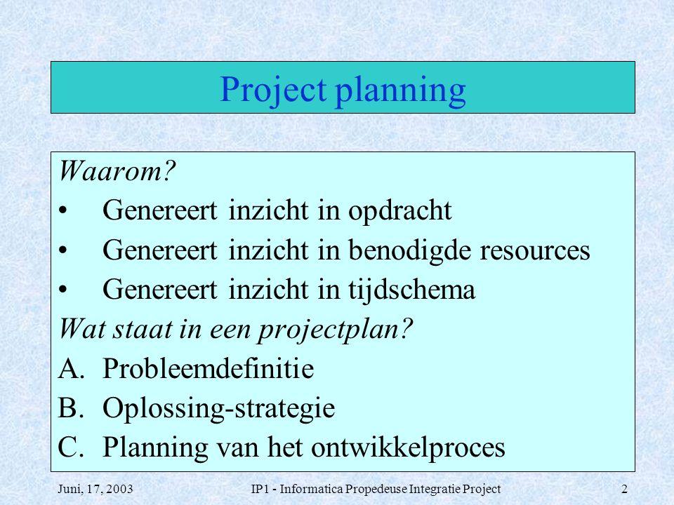 IP1 - Informatica Propedeuse Integratie Project