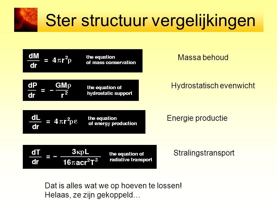 Ster structuur vergelijkingen
