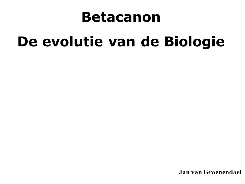 De evolutie van de Biologie