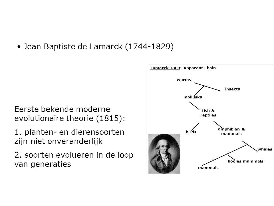 Jean Baptiste de Lamarck (1744-1829)