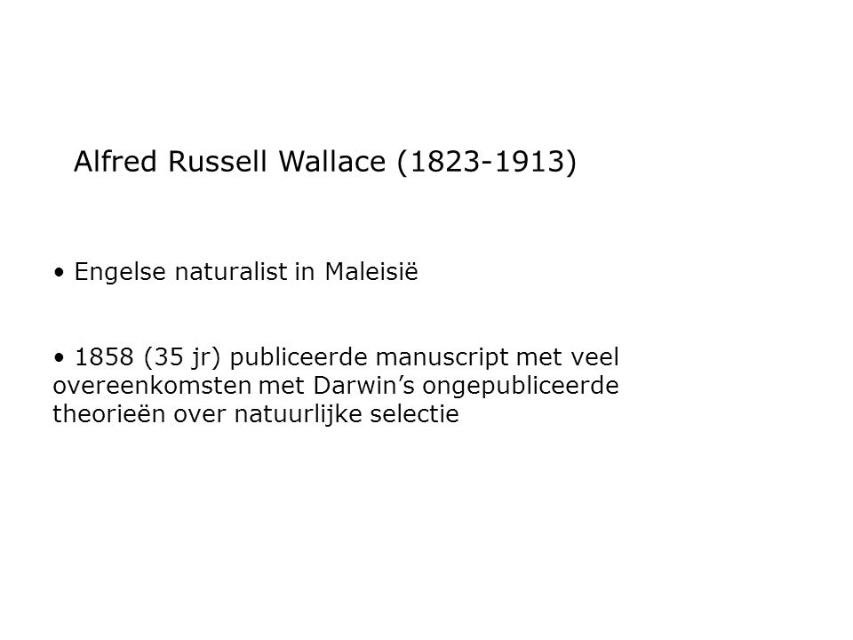 Alfred Russell Wallace (1823-1913)