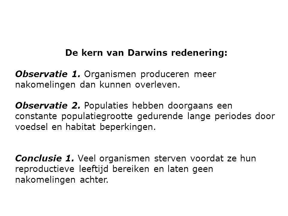 De kern van Darwins redenering: