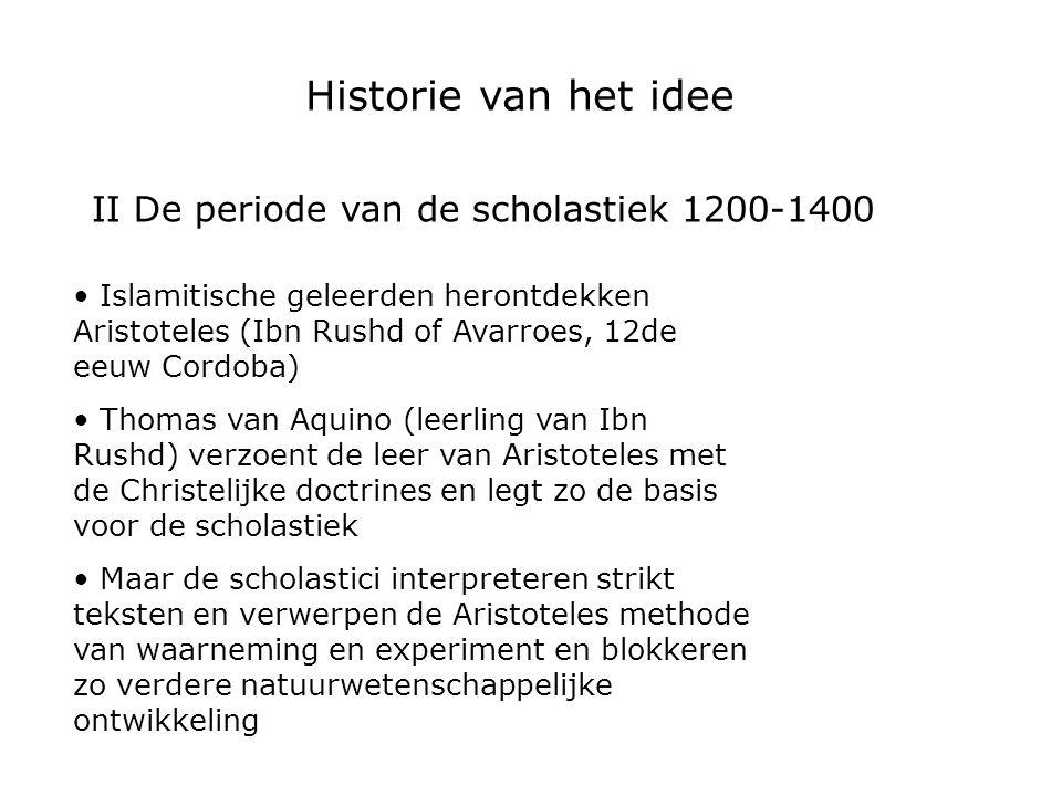 II De periode van de scholastiek 1200-1400