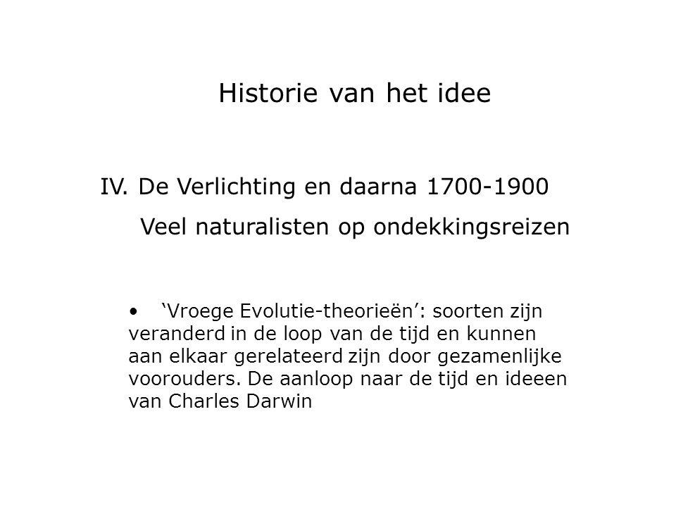 IV. De Verlichting en daarna 1700-1900