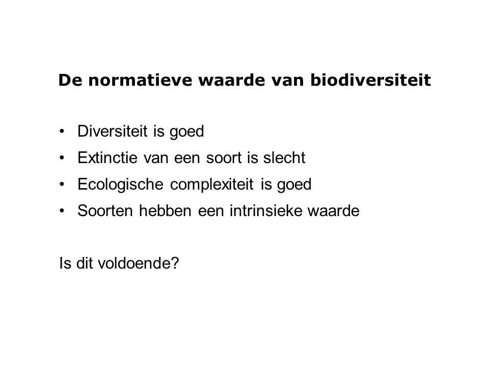 De normatieve waarde van biodiversiteit