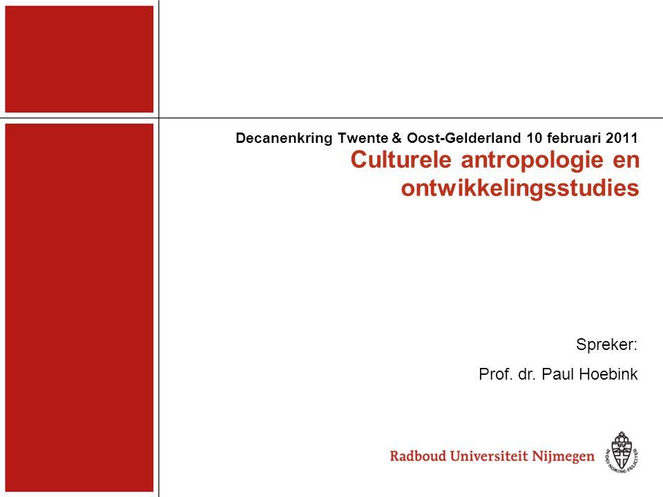 Culturele antropologie en ontwikkelingsstudies