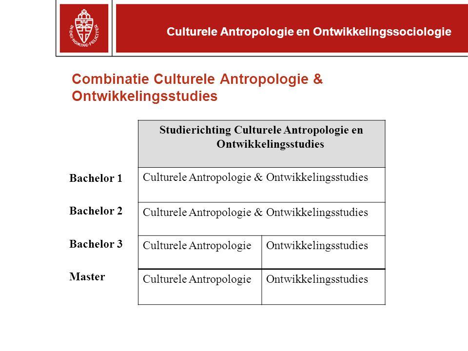 Combinatie Culturele Antropologie & Ontwikkelingsstudies