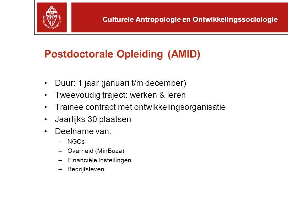 Postdoctorale Opleiding (AMID)