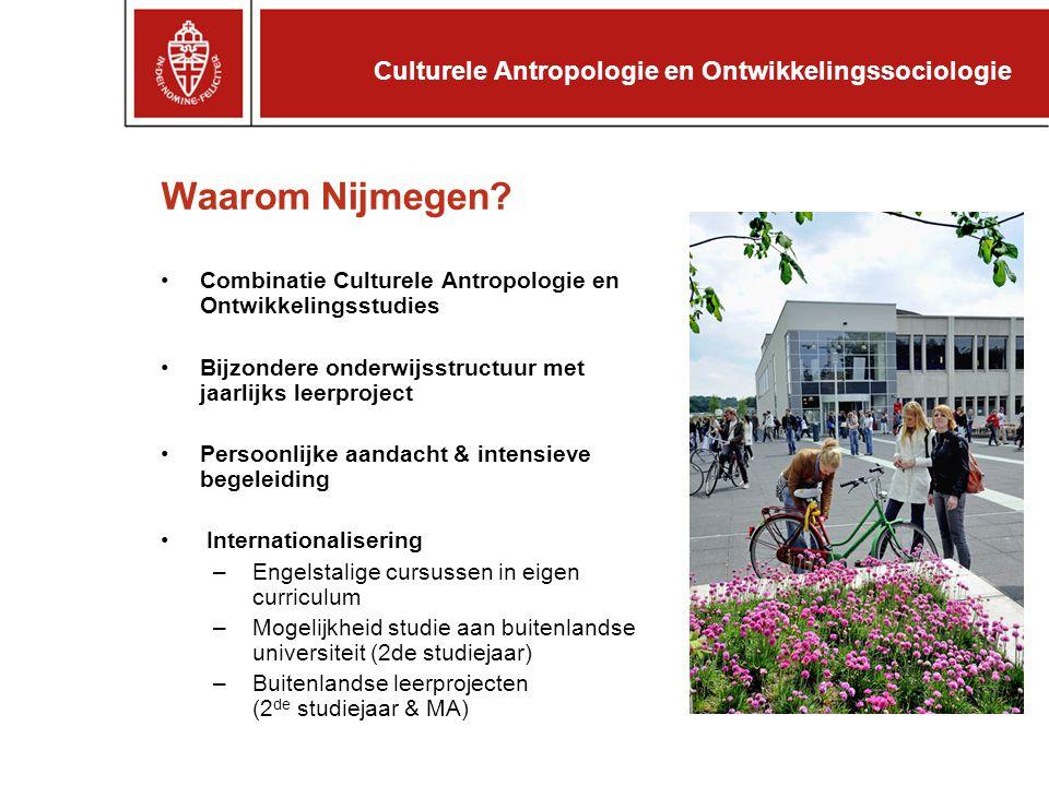 Waarom Nijmegen Culturele Antropologie en Ontwikkelingssociologie