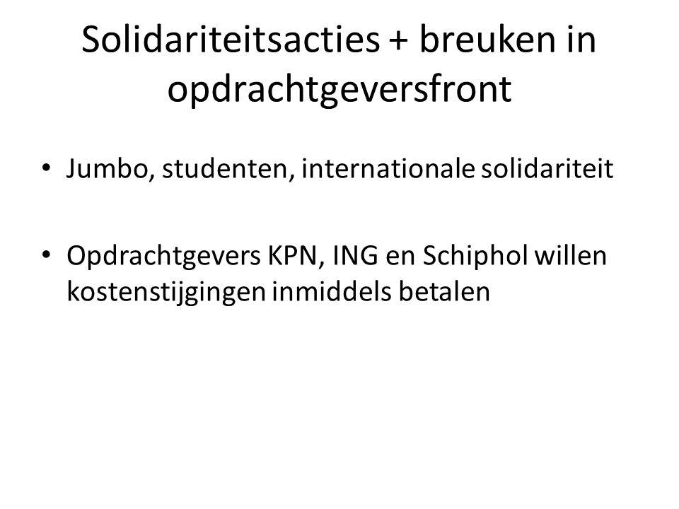 Solidariteitsacties + breuken in opdrachtgeversfront