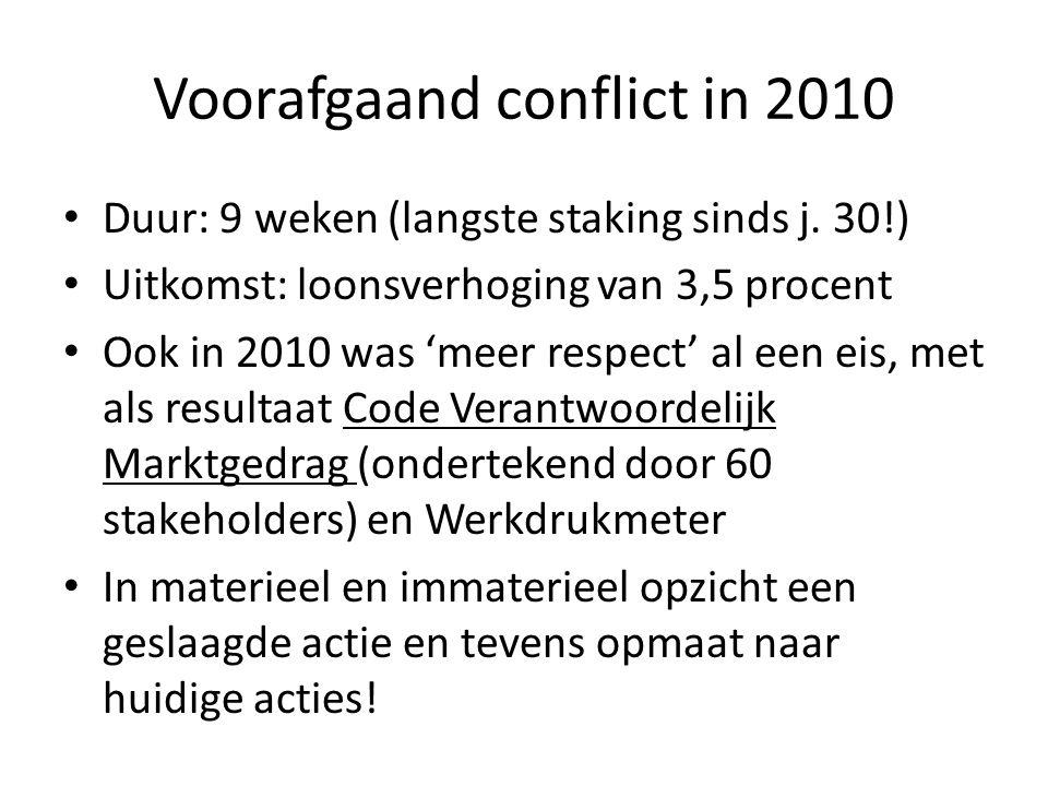 Voorafgaand conflict in 2010