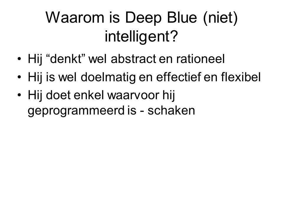 Waarom is Deep Blue (niet) intelligent