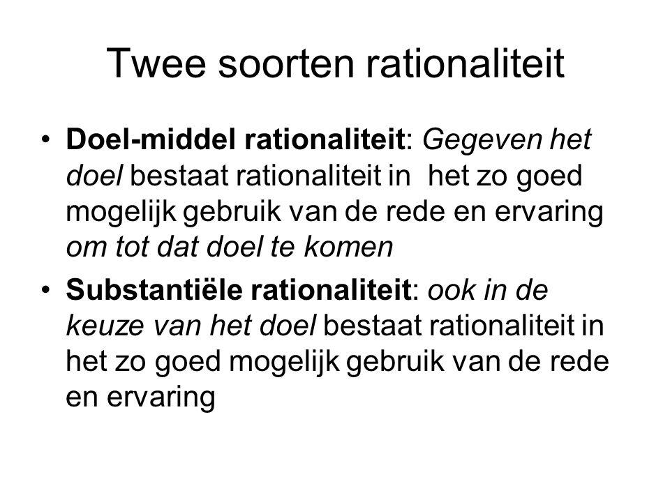 Twee soorten rationaliteit
