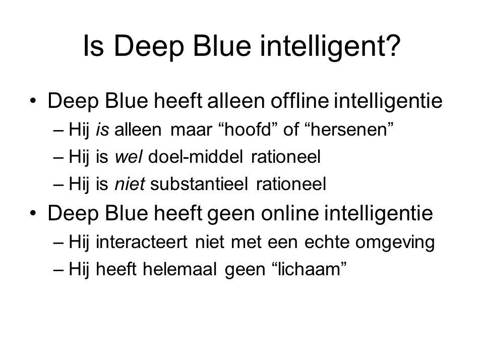 Is Deep Blue intelligent