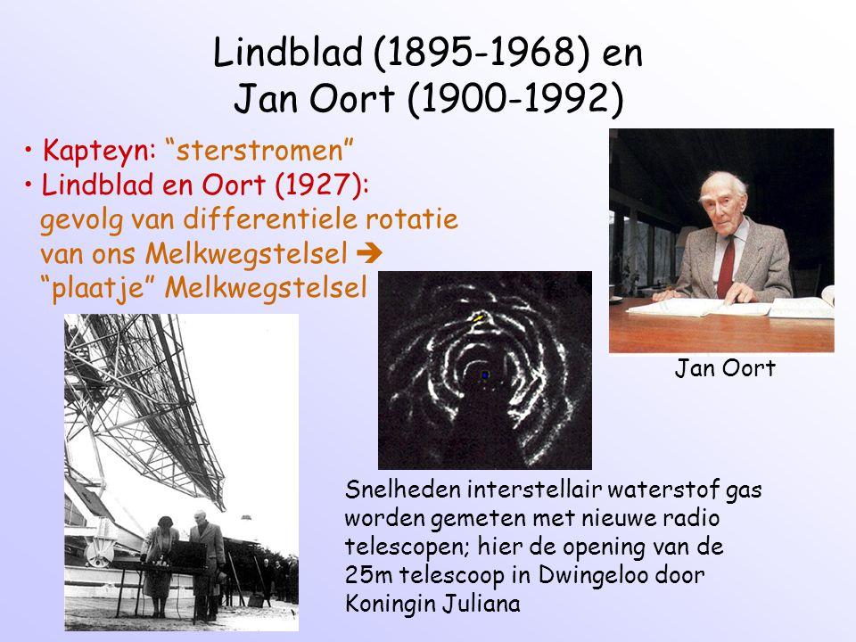 Lindblad (1895-1968) en Jan Oort (1900-1992)