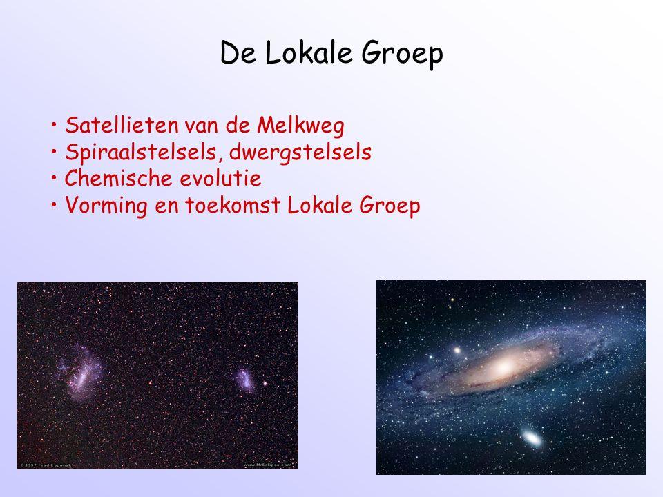 De Lokale Groep Satellieten van de Melkweg