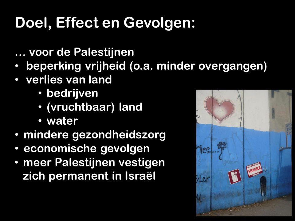 Doel, Effect en Gevolgen: