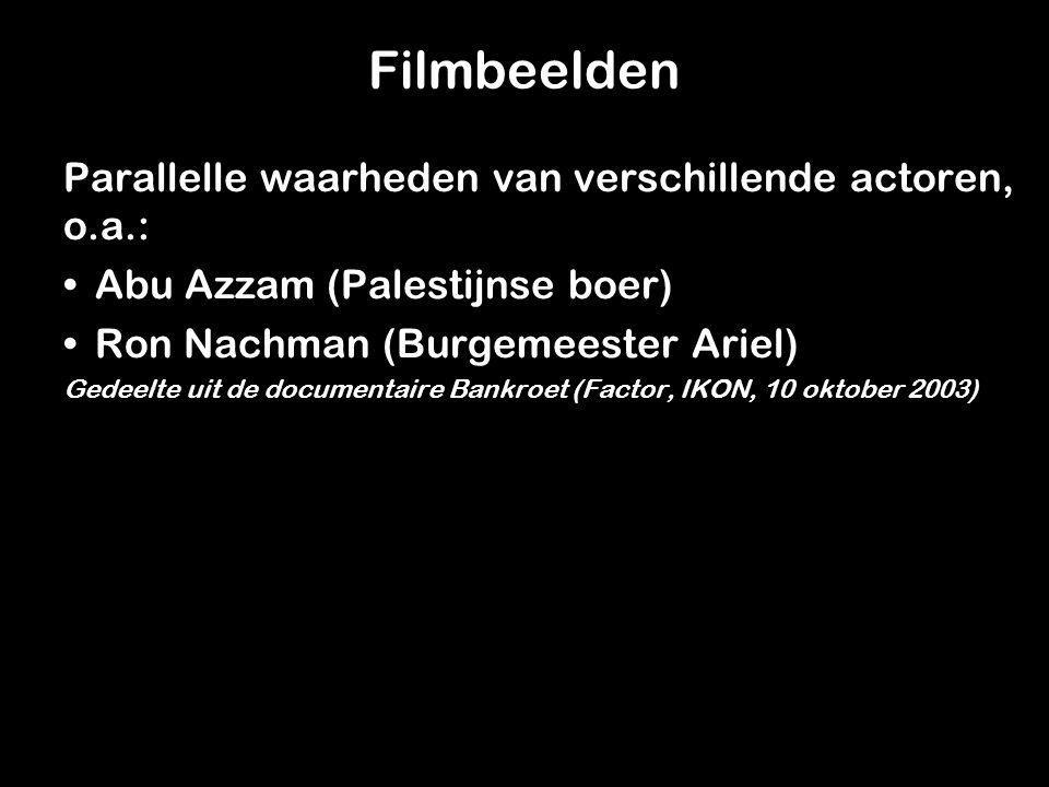 Filmbeelden Parallelle waarheden van verschillende actoren, o.a.: