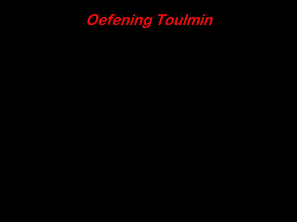 Oefening Toulmin