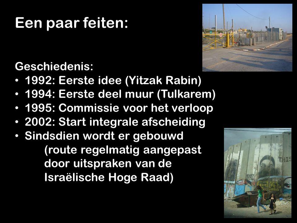 Een paar feiten: Geschiedenis: 1992: Eerste idee (Yitzak Rabin)