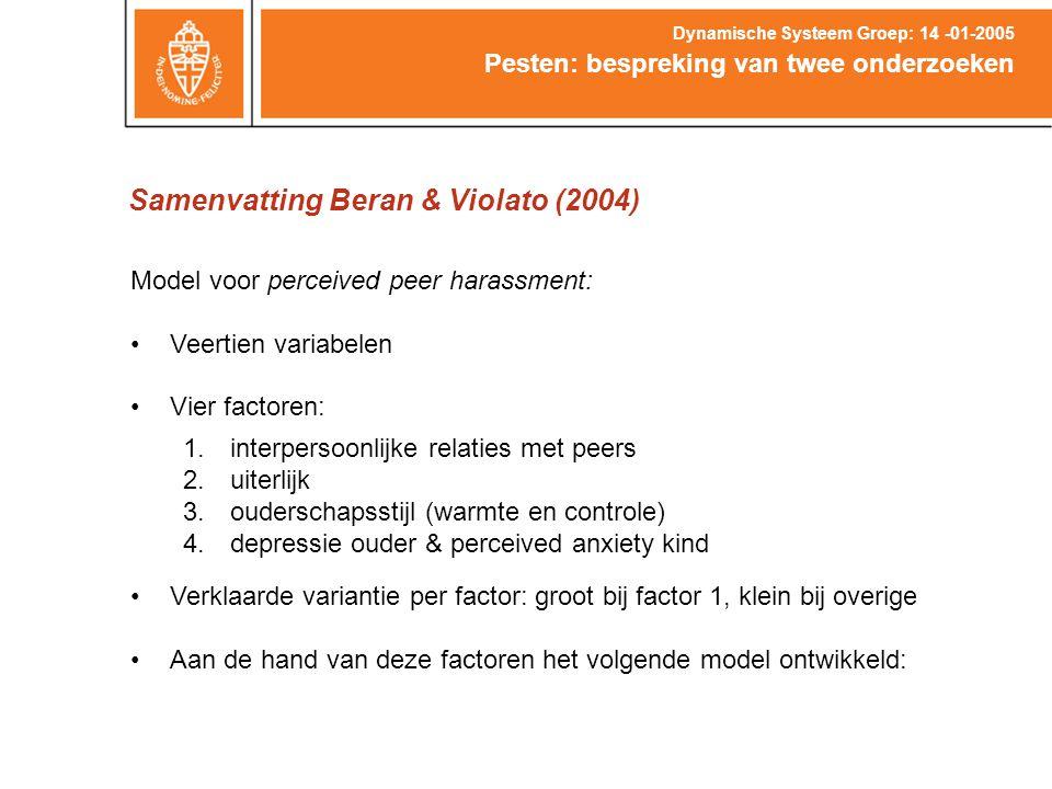 Samenvatting Beran & Violato (2004)
